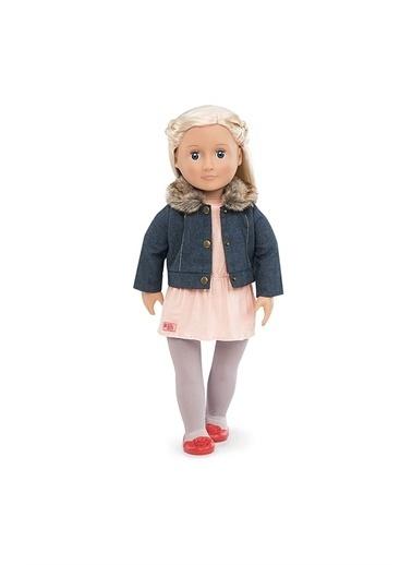 Our Generation Our Generation Jean Ceket ve Kürk Yaka Oyuncak Bebek Kıyafet Seti Renkli
